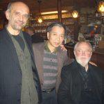 2004-12-15.16、ウィーン【 JAZZLAND 】、Shabata & 井阪プロデューサー & Gary !、(Shabataは高樹の2枚目のアルバムのビブラフォン奏者です^^。、何と聴きに遊びに来てくれました♪ 嬉しい!)
